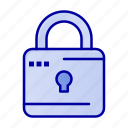computing, louck, loucked, security icon