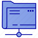 data, folder, server, storage icon