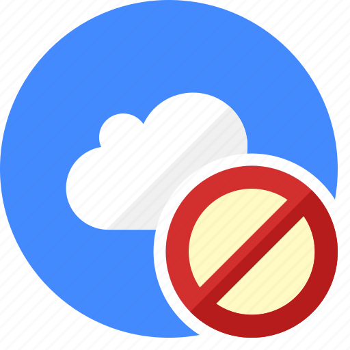 block, cloud, cluouding, error, stop icon