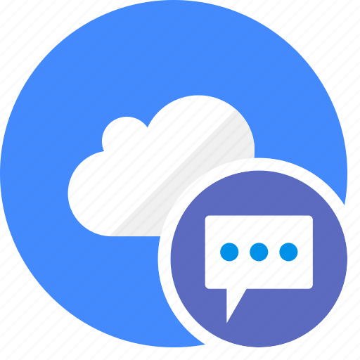blog, chat, cloud, cluouding, comment, forum, write icon