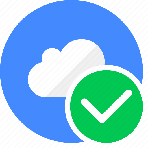 approved, check, cloud, cluouding, verify icon
