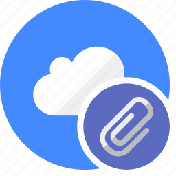 attach, attached, clip, cloud, cluouding icon