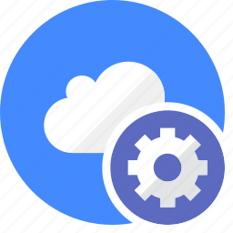 cloud, cluouding, gear, settings, setup icon