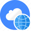 cloud, cluouding, globe, seo, web icon