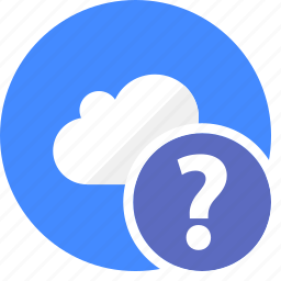 cloud, cluouding, faq, help, question icon