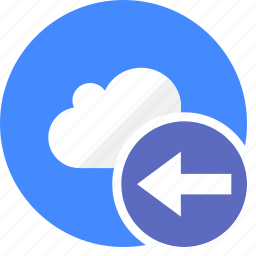arrow, arrows, back, cloud, cluouding, direction, left icon
