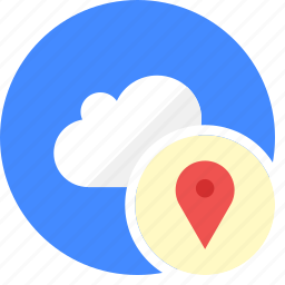 cloud, cluouding, direction, local, locatio, place icon