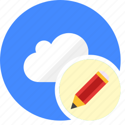 cloud, cluouding, edit, pen, write icon