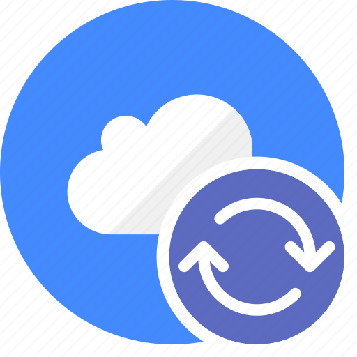 arrows, cloud, cluouding, refresh, sync, synchronize icon