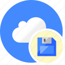 cloud, cluouding, data, disk, save icon