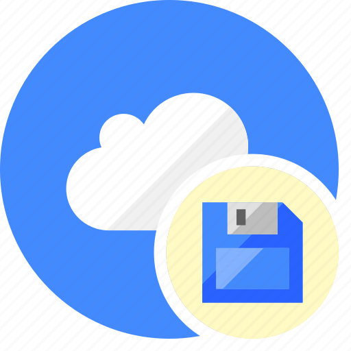 cloud, cluouding, data, disk, guardar, save icon