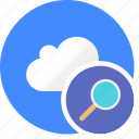 cloud, cluouding, detail, find, search icon