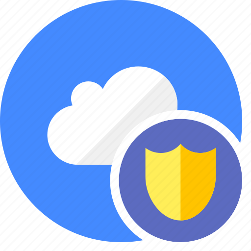 cloud, cluouding, safe, secure, shield icon