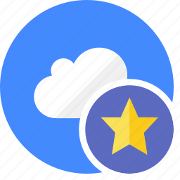 cloud, cluouding, favorite, star icon