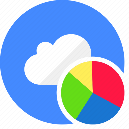 business, cloud, cluouding, presentation, statistic icon
