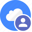 cloud, cluouding, group, people, person, user icon