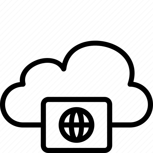 cloud, functions, internet, type icon