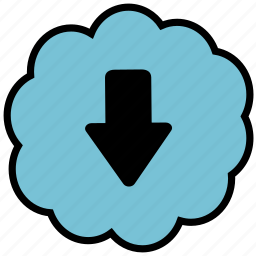 arrow, communication, down, interface, ui icon