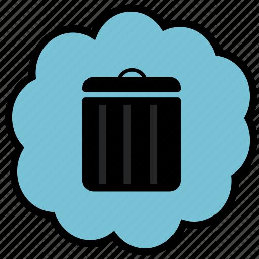 delete, deleted, for ever gone, negative, trash icon