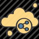 chain, cloud, weather