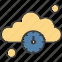 clock, cloud, time