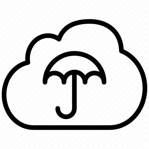 cloud, insurance, investment, logistics, rain, umbrella, weather icon