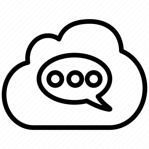 bubble, chat, cloud, comment, message, mobile, sms, speech, talk icon