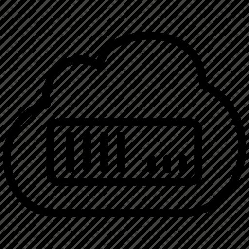 cloud, computing, datacenter, host, hoster, hosting, network, saas, server, service, upload icon