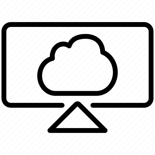cloud, computer, desktop, display, lcd, monitor, screen, system, wallpaper icon