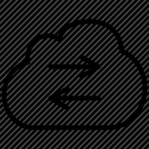 arrow, change, cloud, exchange, power, session, swap, switch icon