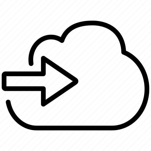 arrow, cloud, import icon