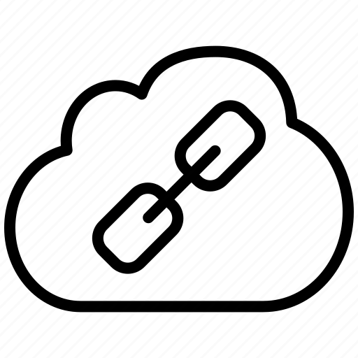 chain, cloud, connection, connections, link, url icon