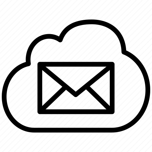 cloud, communication, email, envelope, invite, letter, mail, message, post, send, sent, share icon