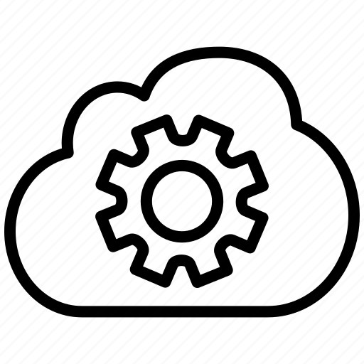 cloud, cog, configuration, gear, gears, machine part, options, preferences, setting, settings, technology, tool, tools icon