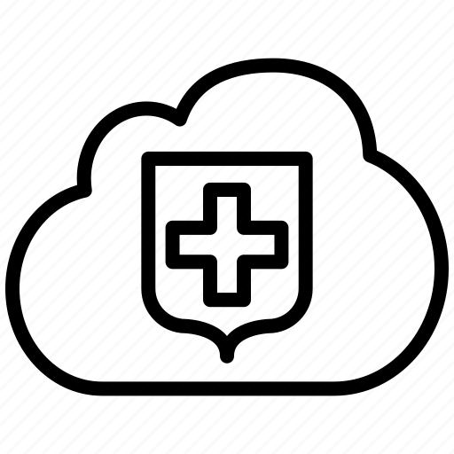 cloud, insurance, locked, locker, private, protect, protection, secure, security, shield, storage icon