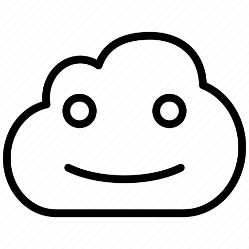 Cloud Emoticon Emotion Face Fun Glad Happy Lucky Smile