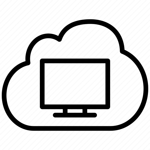cloud, computer, desktop, display, mac, monitor, pc, personal computer, screen, system, terminal, virtual, virtual os, workstation icon