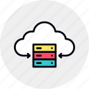 achive, backup, center, cloud, data, database, storage icon