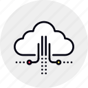 cloud, computing, data, hosting, infrastructure, network icon
