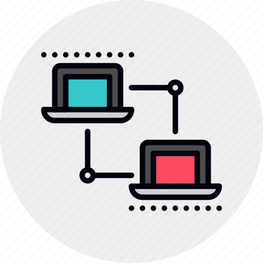 area, connection, lan, laptop, link, local, network icon