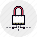 connection, lock, lockpad, network, secure, secured, security icon