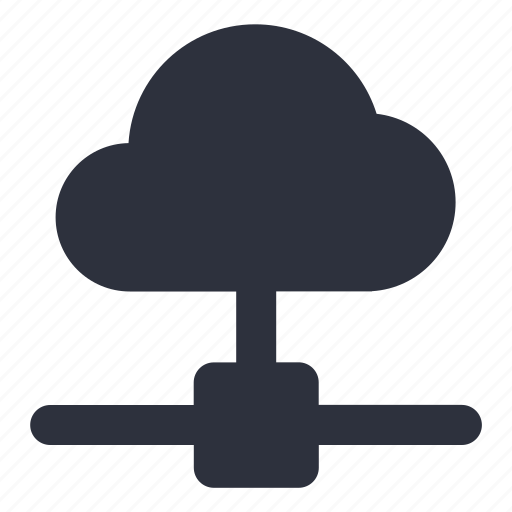 cloud, connected, connecting, database, network, server, storage icon
