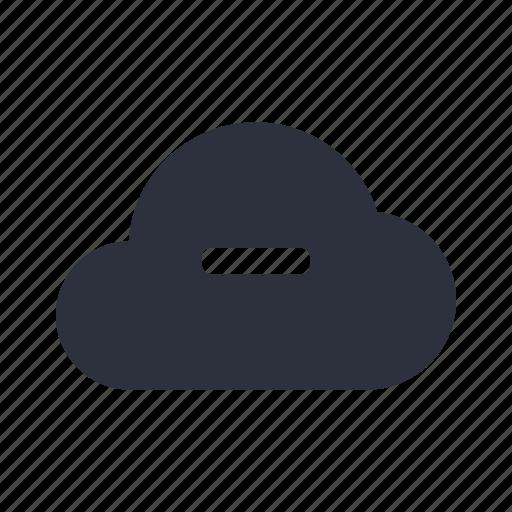 cloud, computing, connection, negative, network, remove, storage icon