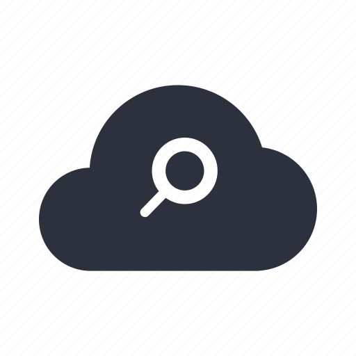 cloud, computing, magnif, magnifying glass, network, seo icon