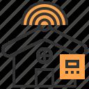 cloud, information, internet, network, service, technology, house