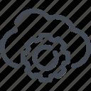 cloud, cogwheel, options, service, setting icon