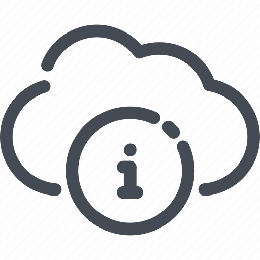 cloud, i, info, information, service icon