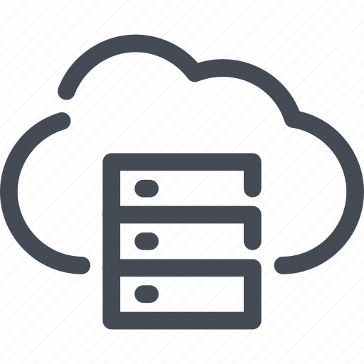 archive, cloud, data, server, service icon