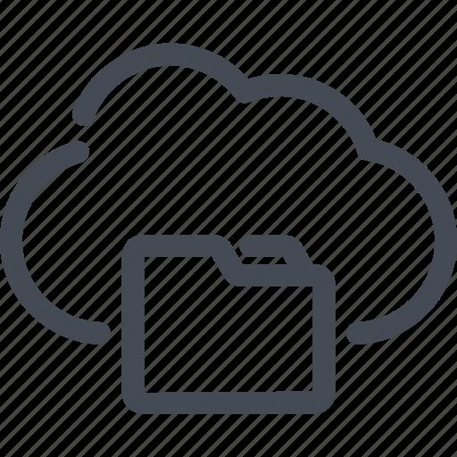 archive, cloud, file, folder, service icon