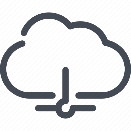 cloud, connection, lan, server, service icon
